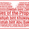 The Wives of the Holy Prophet Muhammad – Brief History